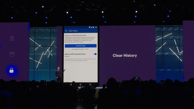 Facebook F8 clear history