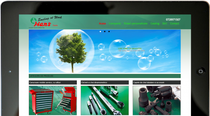 Hans Tools website by Transilvania Soft&Web Design