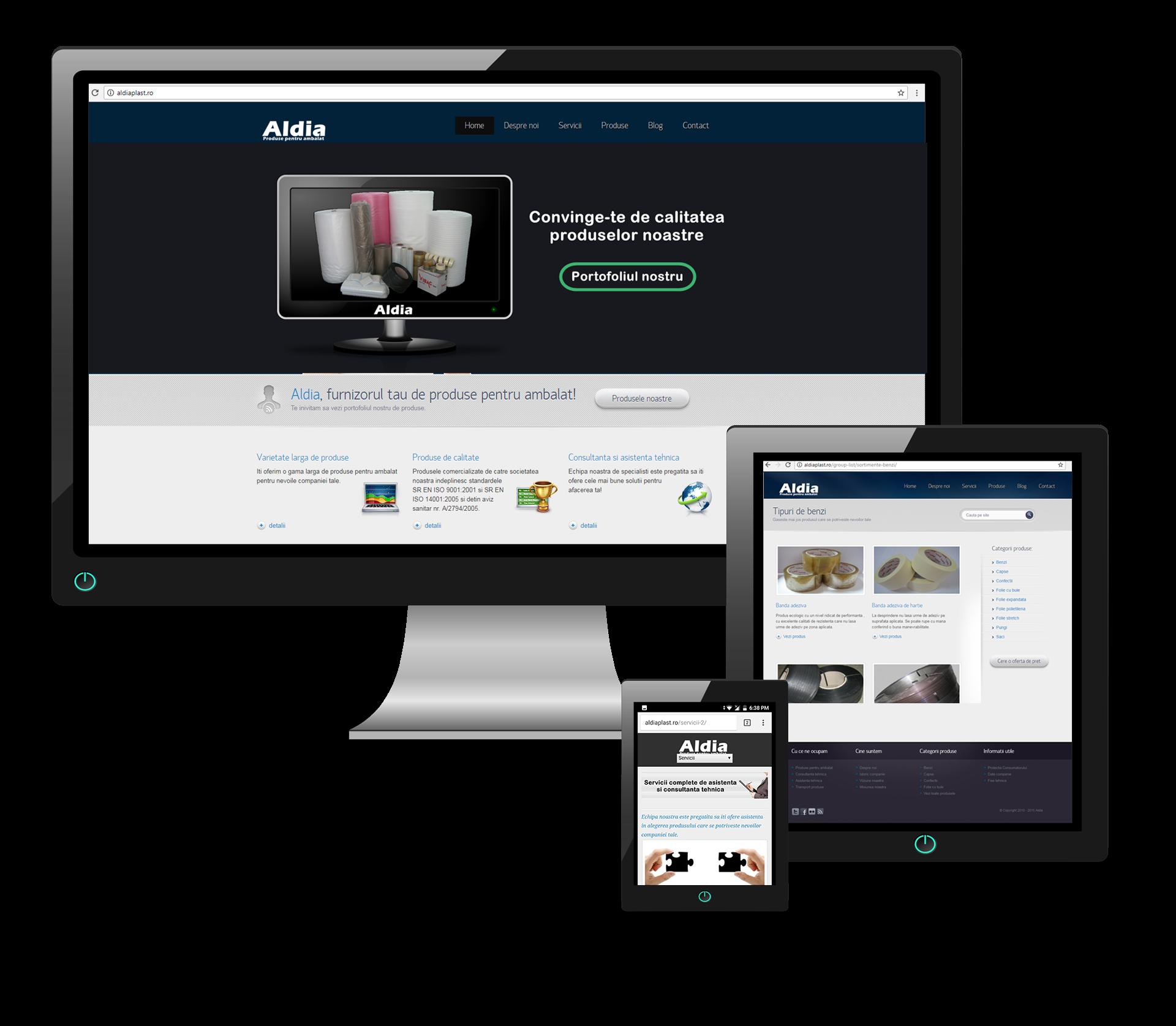 website Aleo by Transilvania Soft & Web Design