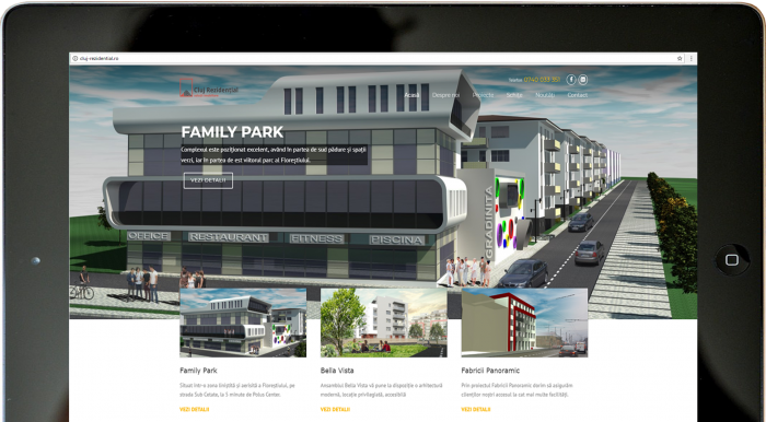 website Family Park byTransilvania Soft & Web Design