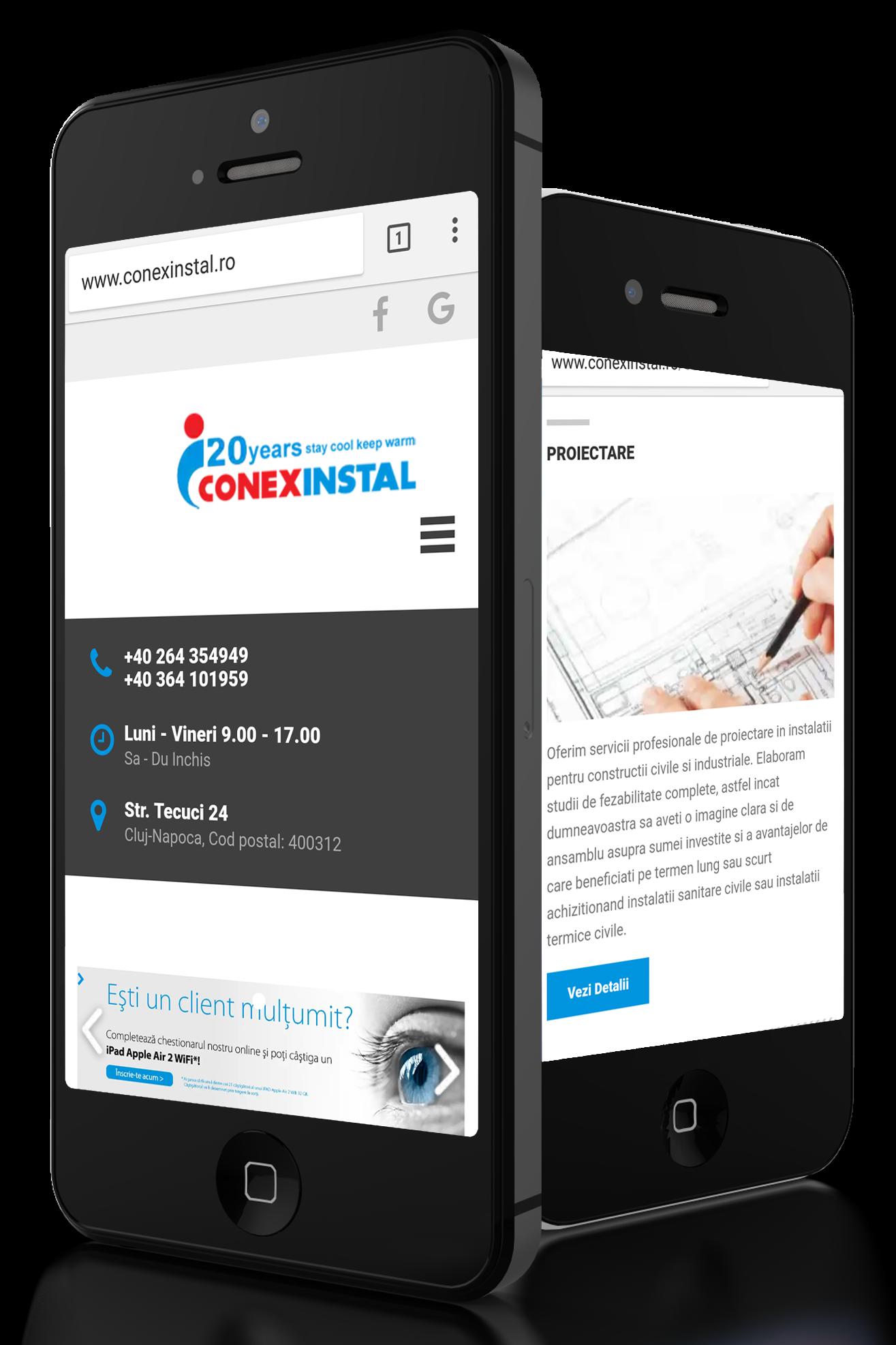website Conexinstal by Transilvania Soft&Web Design